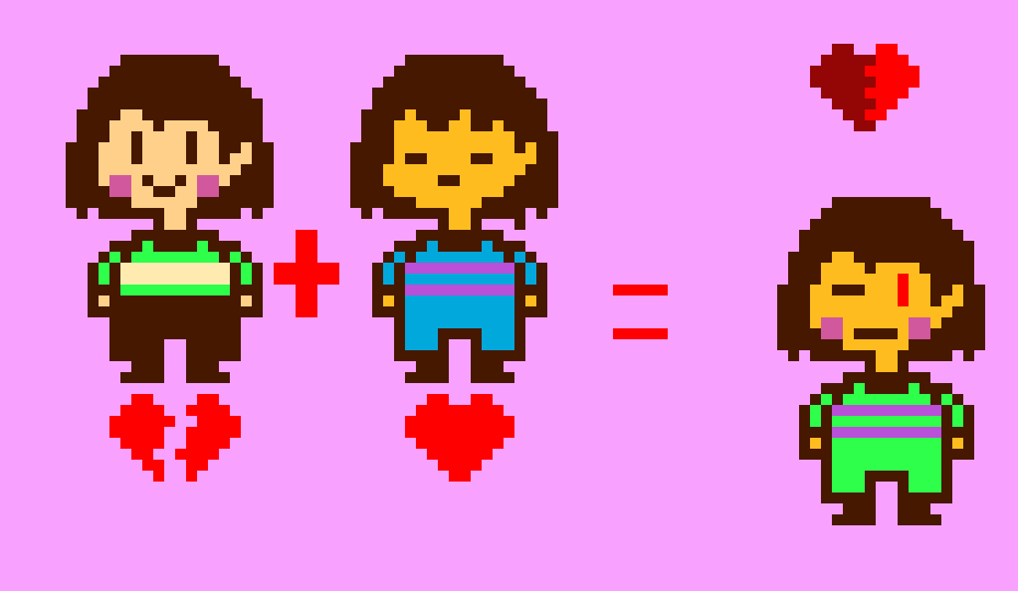 Chara and Frisk fushion
