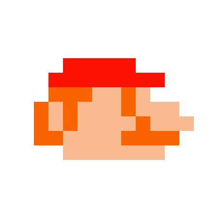 how to draw pixel mario