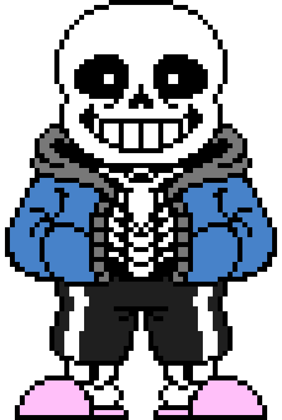 Undertale Sans The Skeleton Pixel Art Maker