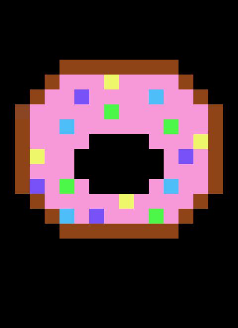 Pixels Art Donut