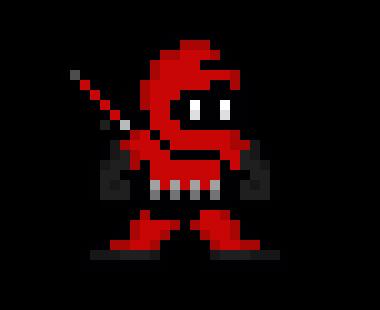 Red Ninja Pixel Art Maker