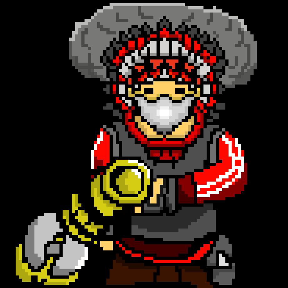 heavy weapons guy pixel art maker