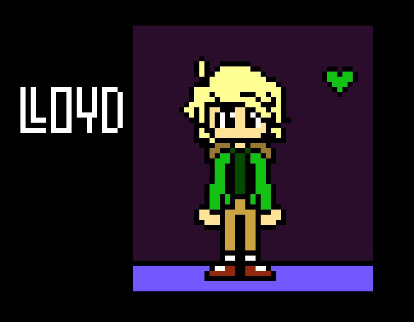 Undertale Lloyd Ninjago Sprite Pixel Art Maker