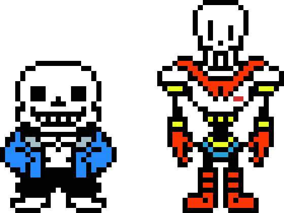sans and papyrus sprites | Pixel Art Maker