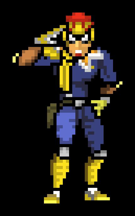 captain falcon pixel   Pixel Art Maker