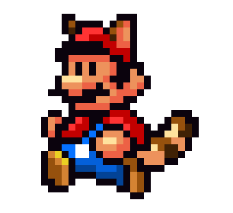 Super Mario Bros 3 Tanooki Pixel Art Pixel Art Maker