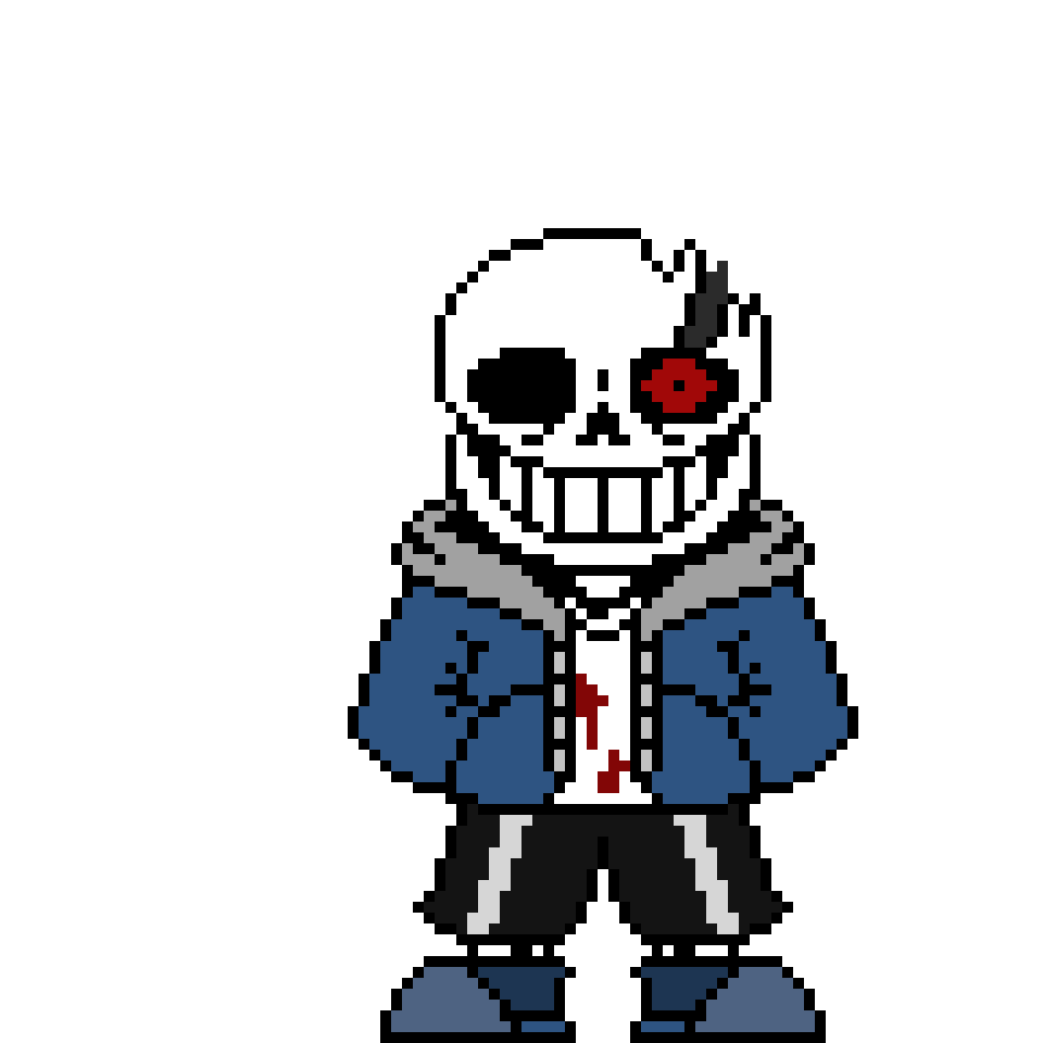 Horrortale Sans   Pixel Art Maker