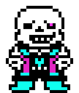 undertale au sans | Pixel Art Maker