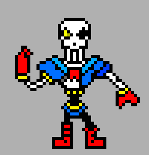 disbelief papyrus phase 3 | Pixel Art Maker