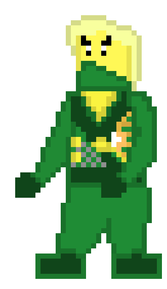 Rebooted Lloyd Ninjago Sprite Pixel Art Maker