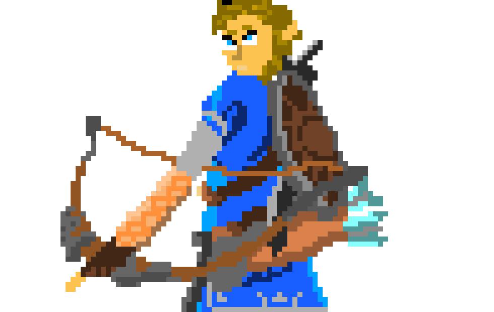 Pixel Art Zelda Breath Of The Wild