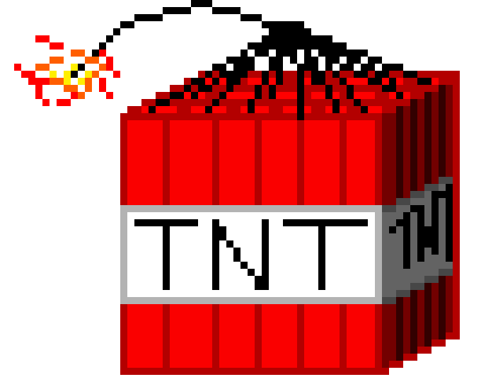 minecraft tnt block pixel art maker