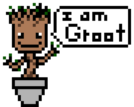 Baby Groot Pixel Art Maker