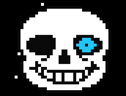 Sans Blue Eye Pixel Art Maker