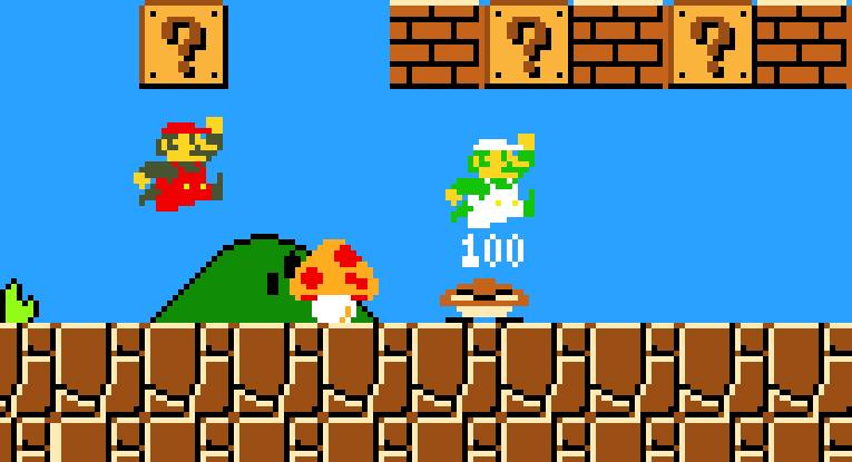 Super Mario Bros 1985 Nintendo Pixel Art Maker