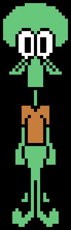 Ideas For Squidward Pixel Art @KoolGadgetz.com