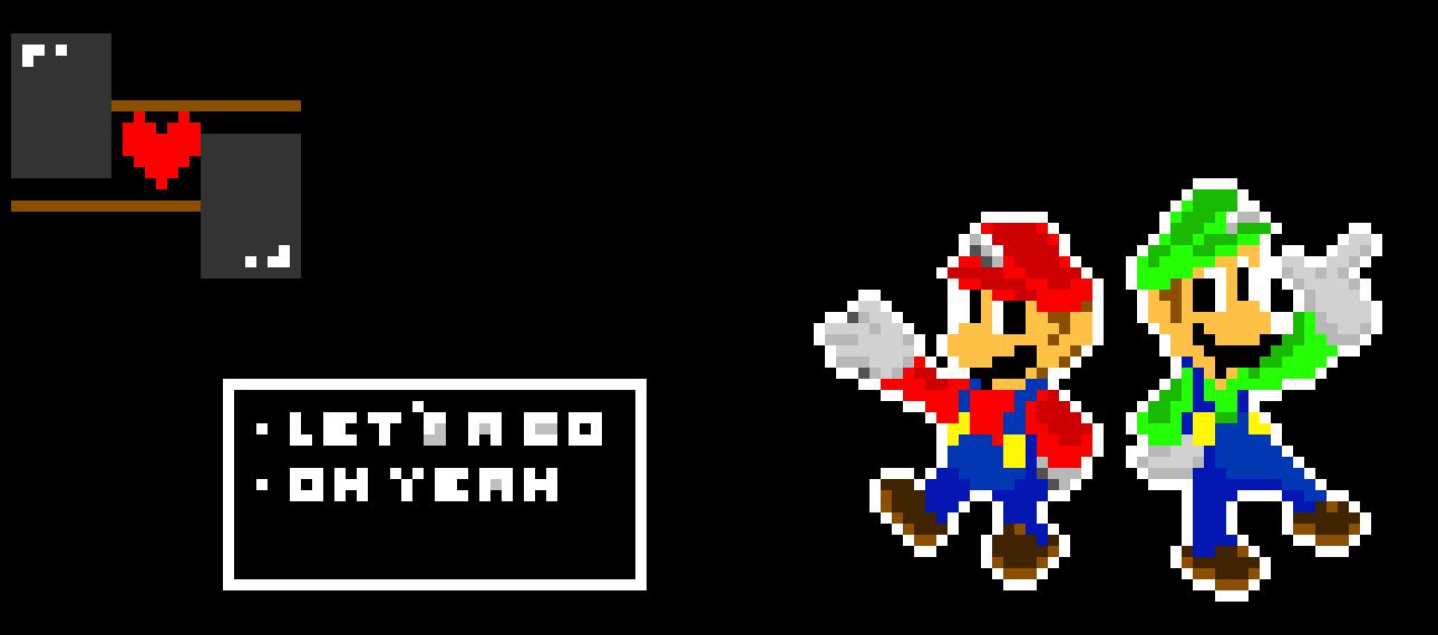 Smash brothers ultimate Characters as Deltarune battles (Mario & Luigi)