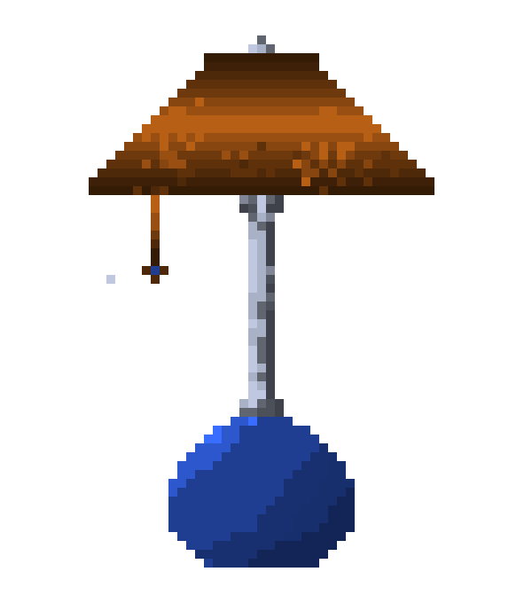 Blue table lamp pixel art maker blue table lamp aloadofball Choice Image