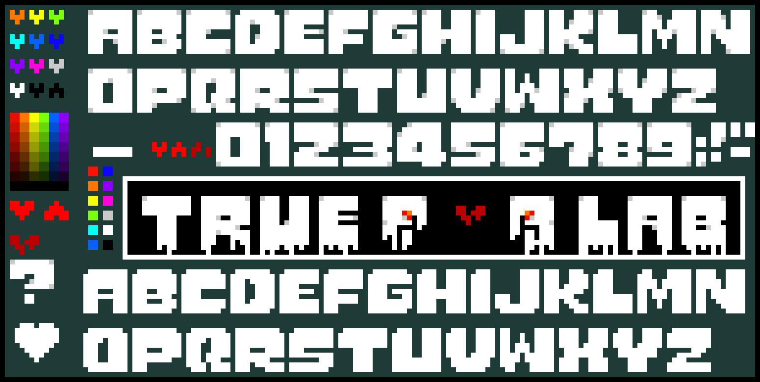undertale logo making studio true lab pixel art maker