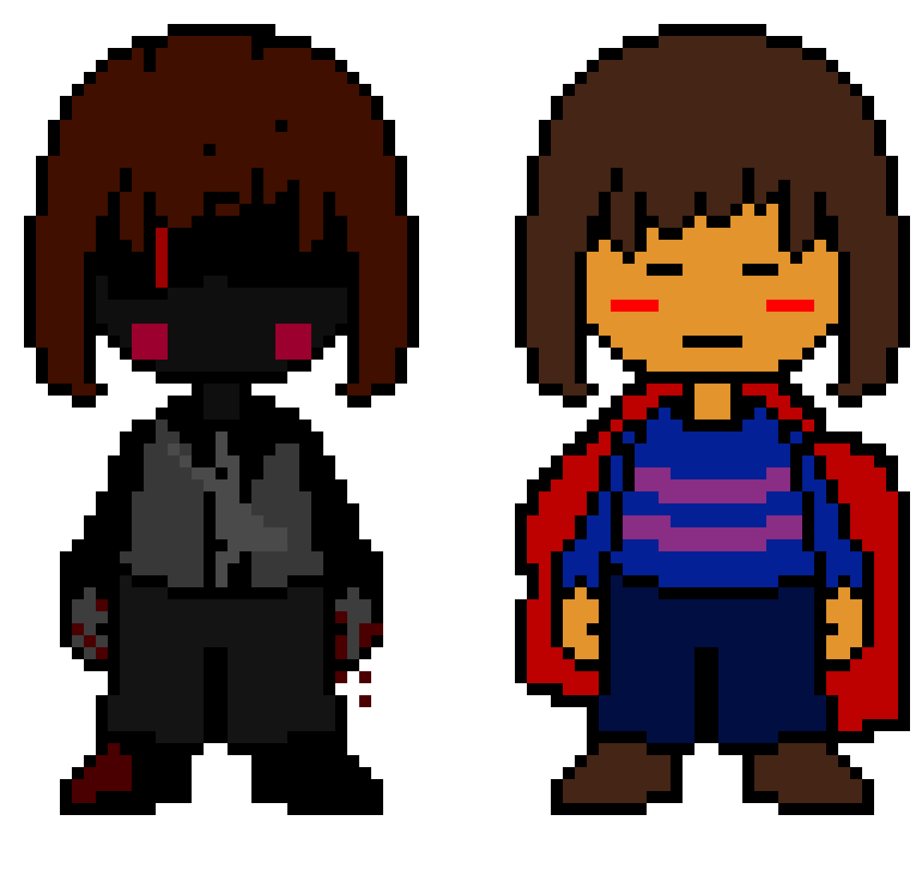 Undertale The Shadow War - Shadow Devil Chara and Hero Frisk
