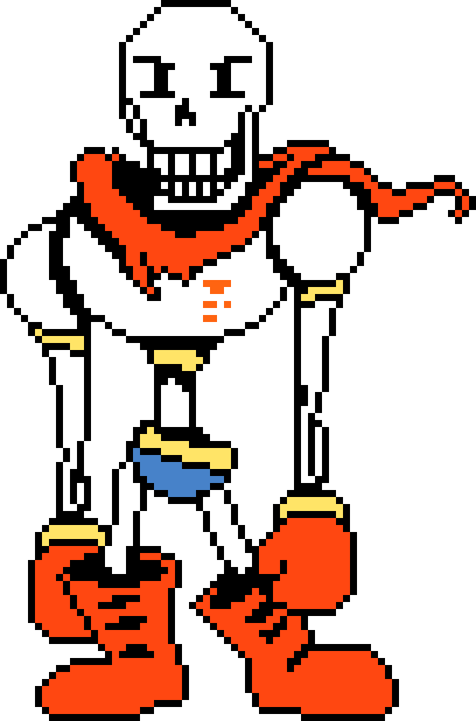 Undertale Rejuvenation Papyrus Sprite Pixel Art Maker Dustswapswap sans and papyrus battle sprite. pixel art maker
