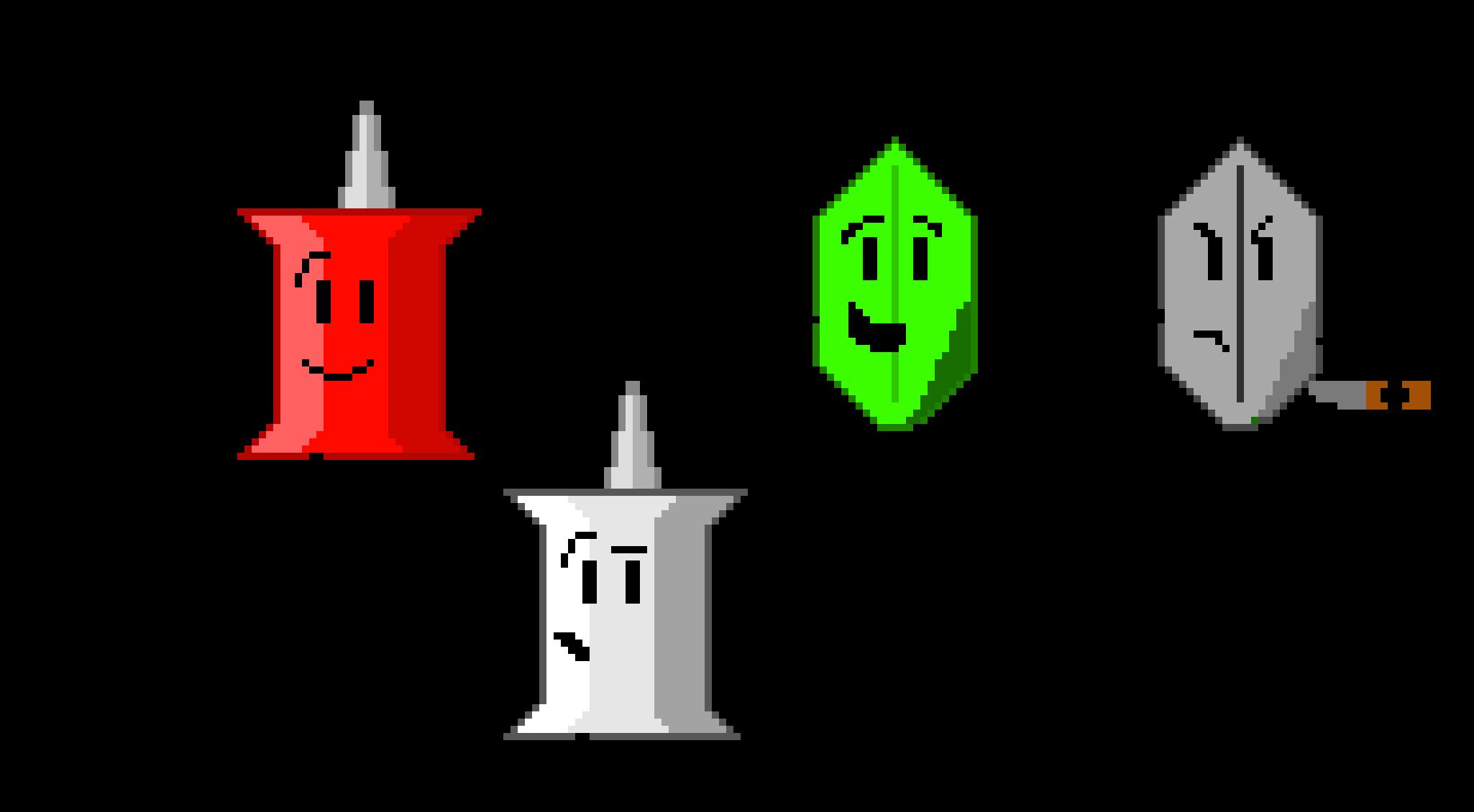 BFDI/A/IDFB/BFB Pin and Leafy | Pixel Art Maker