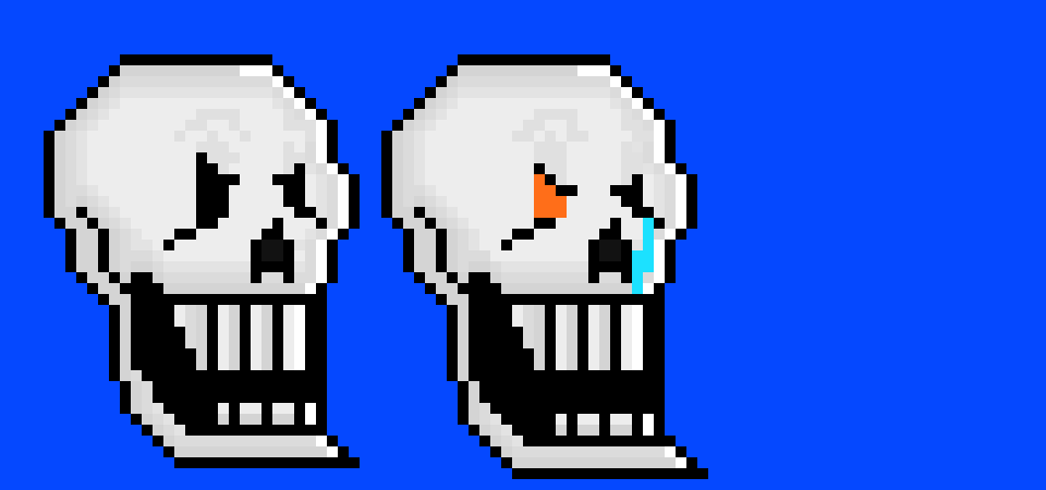 disbelief Papyrus head dialogue ver 2 | Pixel Art Maker