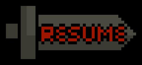 Sword Resume Button Pixel Art Maker