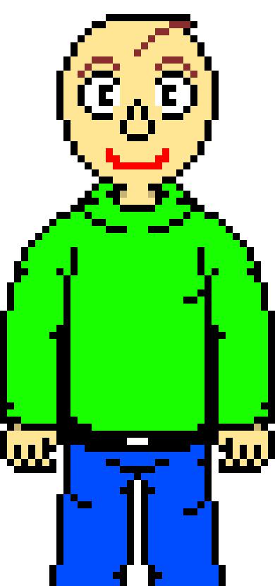 baldi pixel art maker