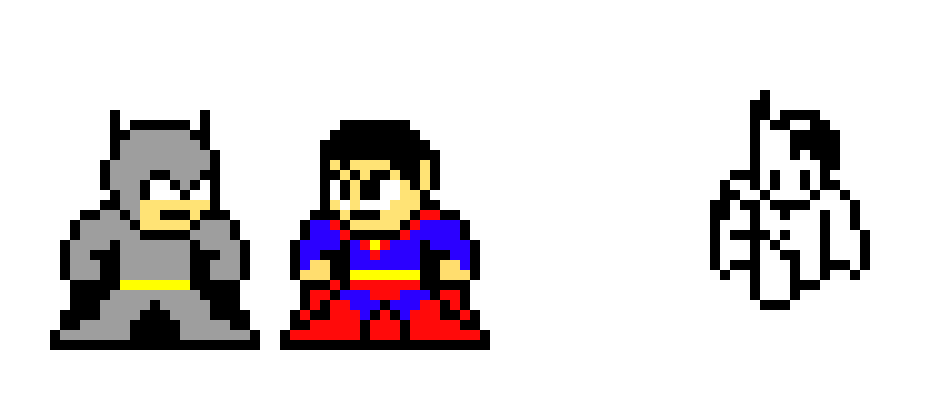 Batman Vs Superman And Combined Pixel Art Maker