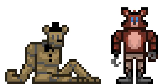 FNaF Mini Sprites! | Pixel Art Maker
