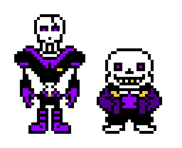 Underfell Sans and Papyrus (purple)