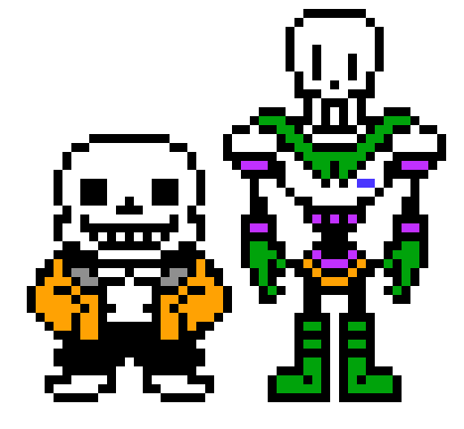 sans and papyrus fliped