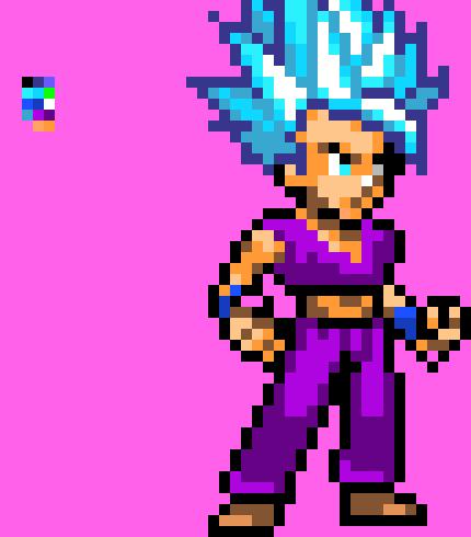 Gohan Ssj Blue Pixel Art Maker