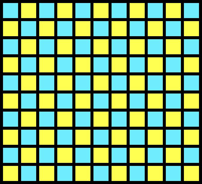10x10 Grid Pixel Art Maker