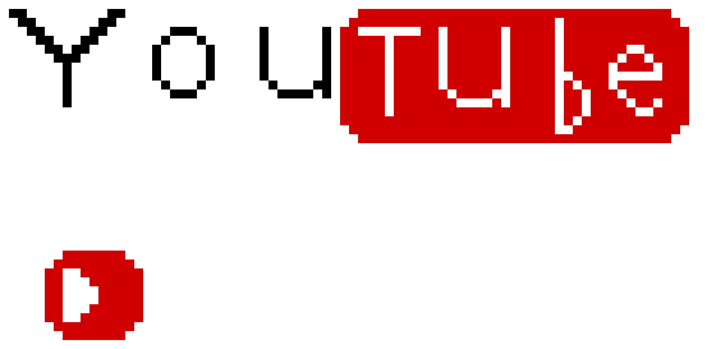 Youtube Logo And Play Button Pixel Art Maker