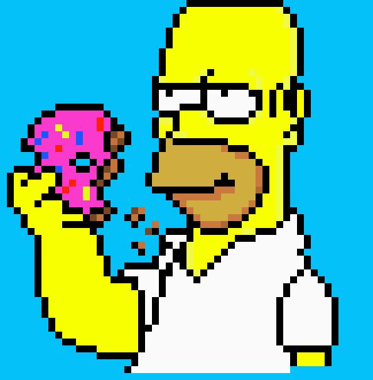 Homero Simpson Pixel Art
