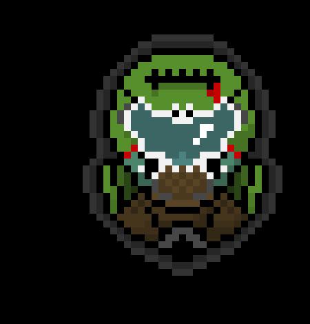 Doom Slayer Pixel Art Maker