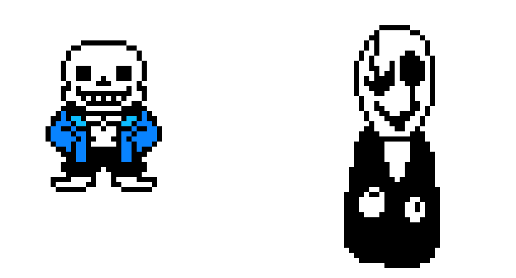Sans and Gaster (By Wiqueur)
