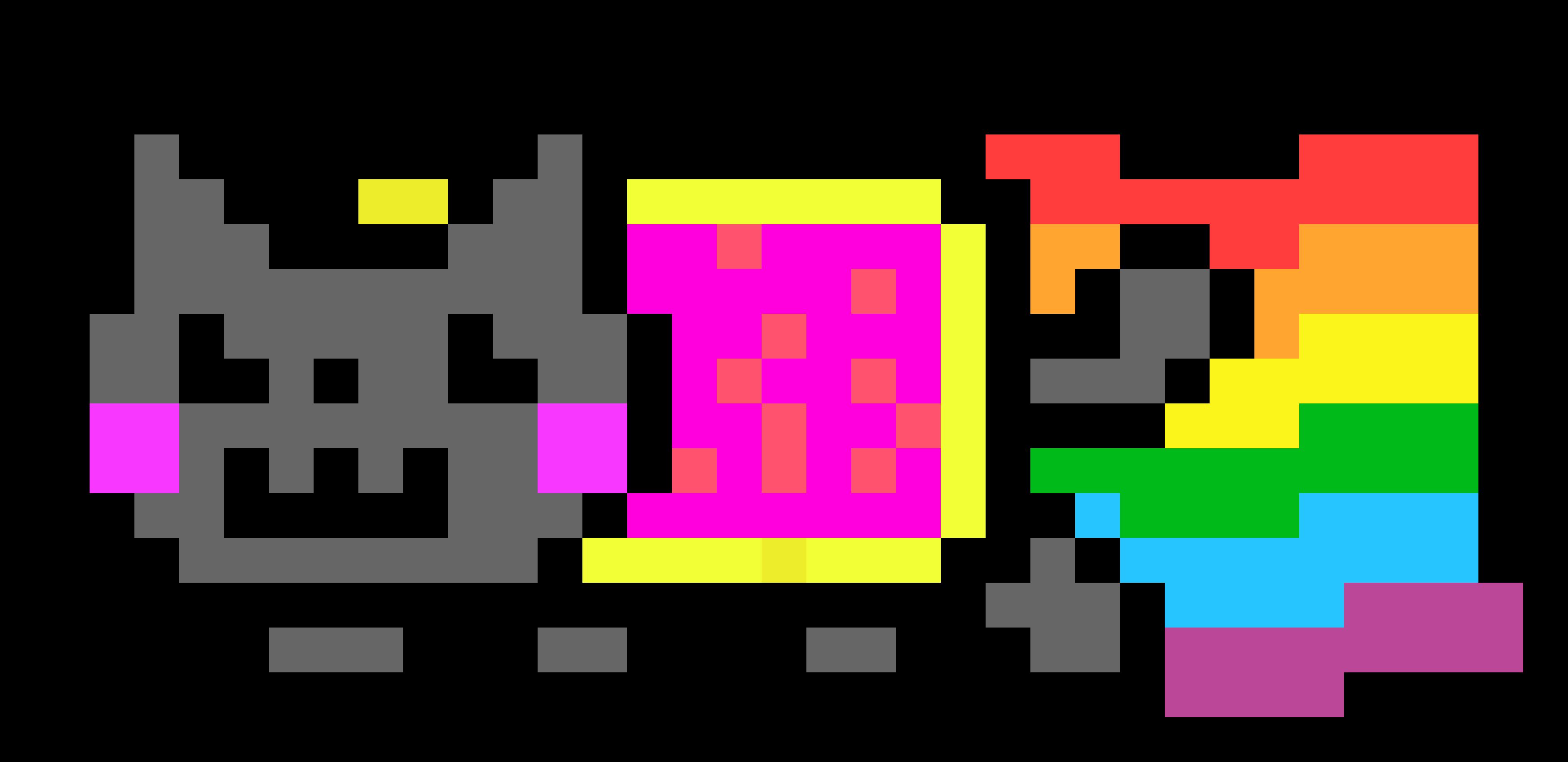 nyan cat pixel art