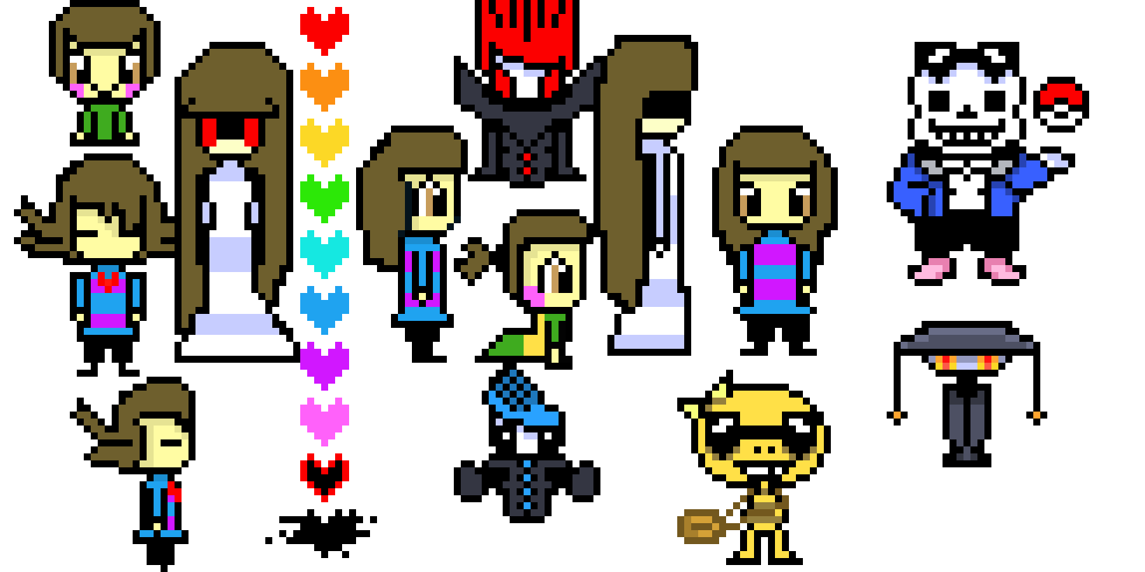 Undertale 2 Pixel Art Maker
