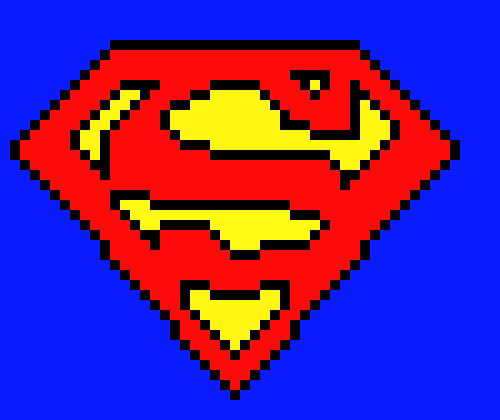 Superman Logo Pixel Art Maker