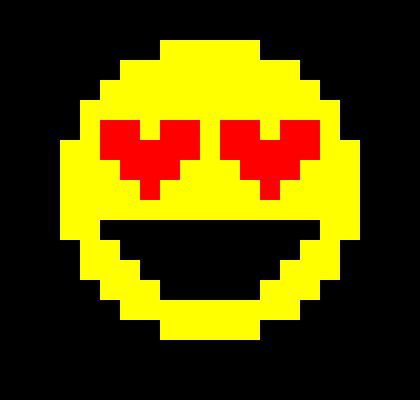 love emoji pixel art maker. Black Bedroom Furniture Sets. Home Design Ideas