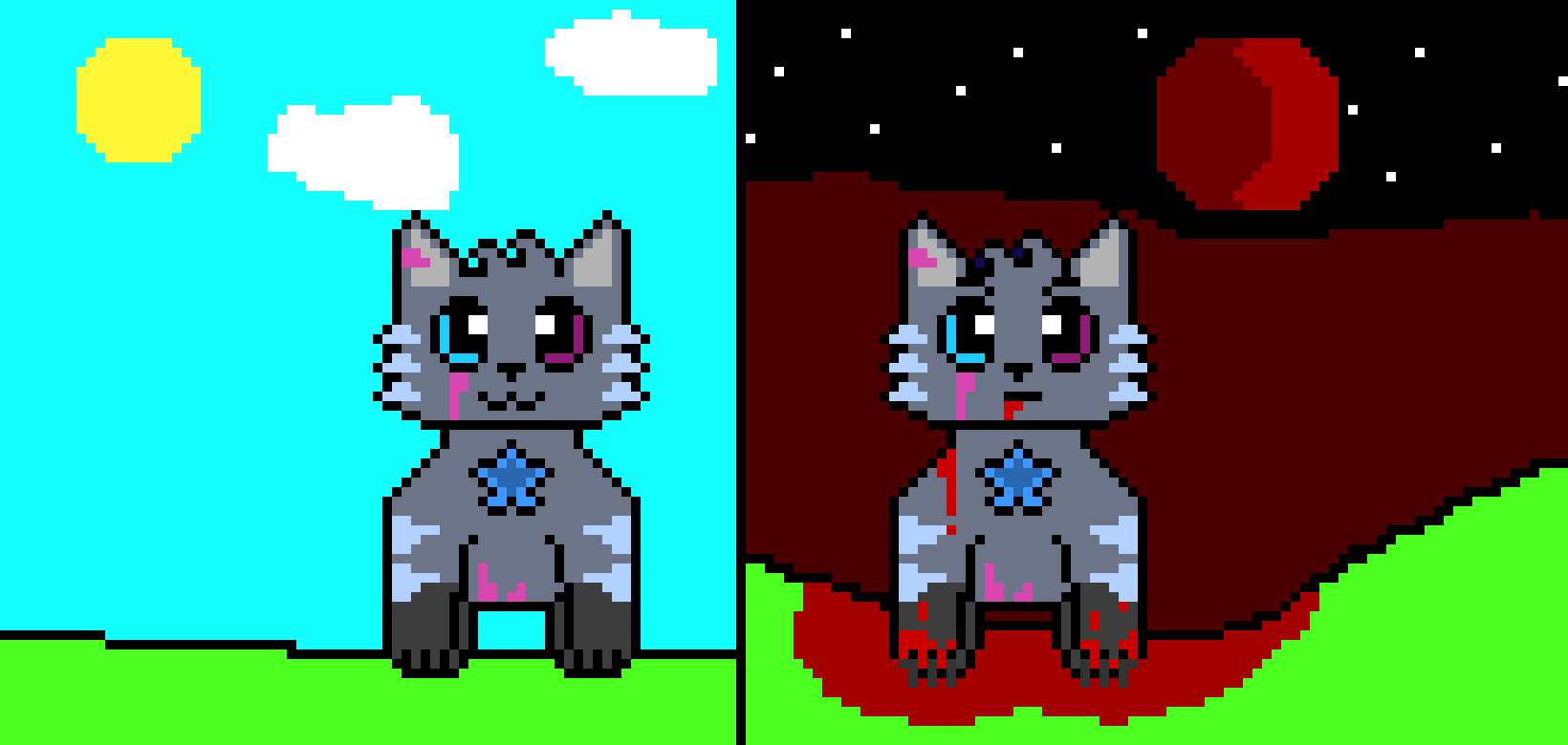 WARRIOR CATS OC - LightStar | Pixel Art Maker