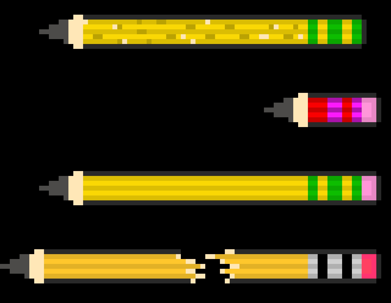all 4 pencils