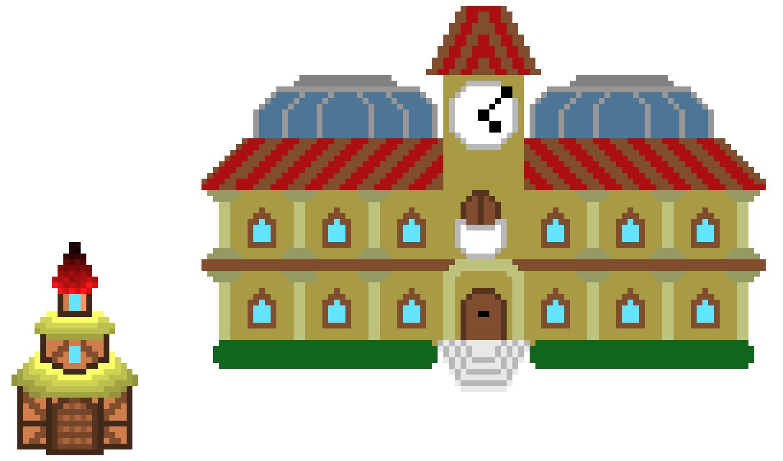 RPG sprites: houses | Pixel Art Maker