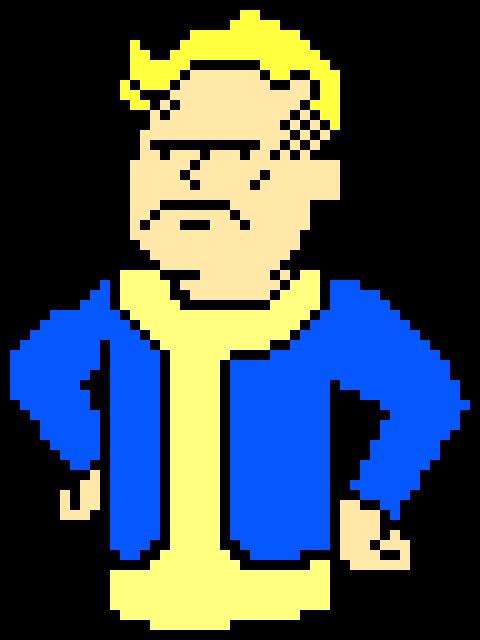 mad vault boy fallout pixel art maker