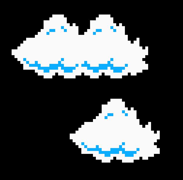 super mario bros cloud sprites pixel art maker. Black Bedroom Furniture Sets. Home Design Ideas
