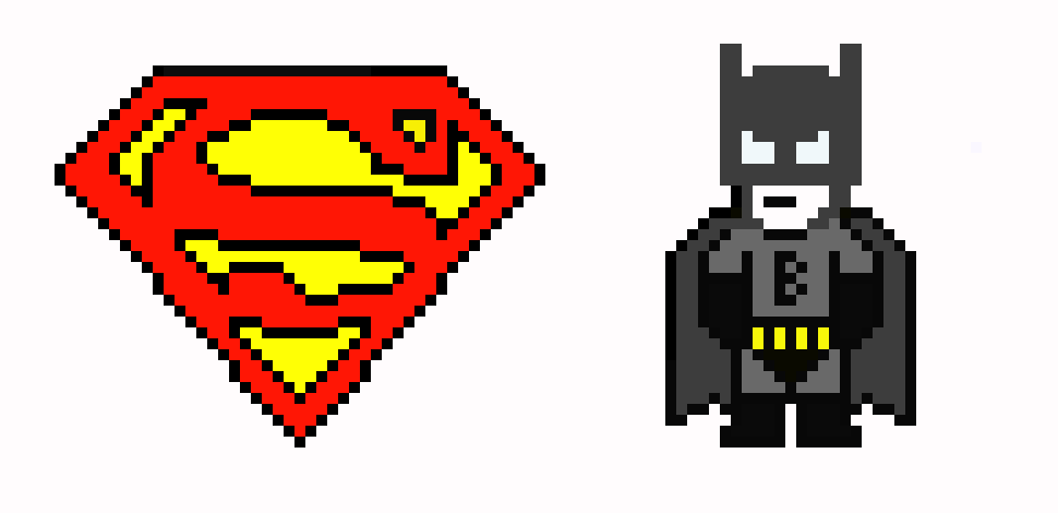 Batman Vs Superman Dawn Of Justice Pixel Art Maker
