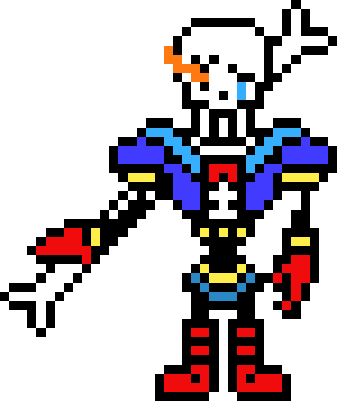 Disbelief papyrus overworld PHASE 1 | Pixel Art Maker